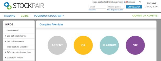 Comptes VIP Stockpair