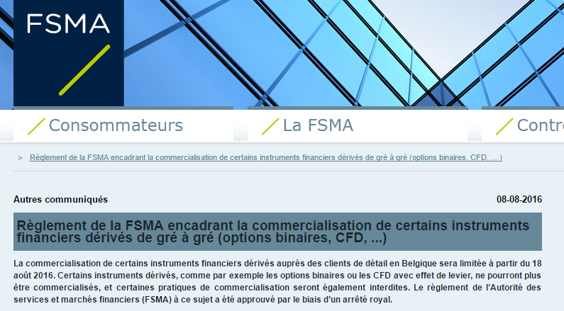 FSMA option binaire