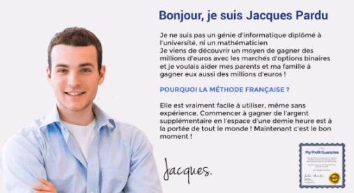 Jacques Pardu vous offre la méthode française de trading