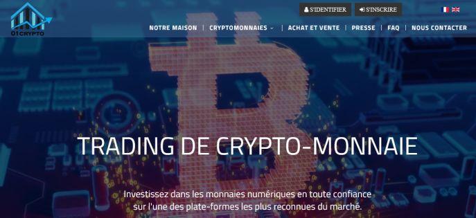 01crypto avis pour le trading crypto monnaie