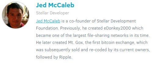 Jed McCaleb co-fondateur du réseau Stellar