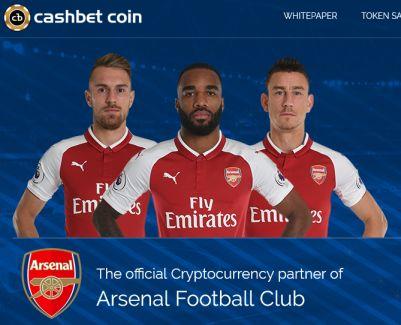 Arsenal partenaire de la crypto monnaie CashBet Coin