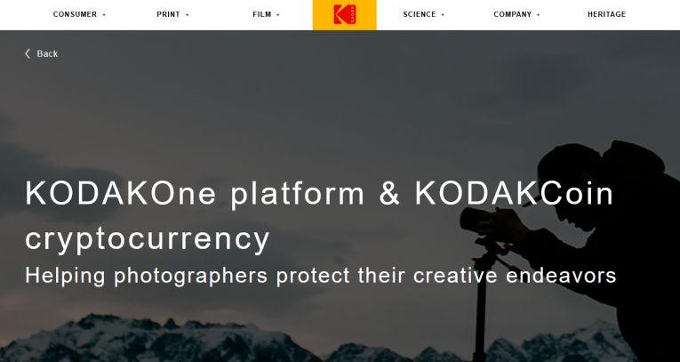 Crypto-monnaie KodakCoin et blokchain KodakOne