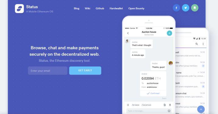 Messagerie Status sur la blockchain Ethereum
