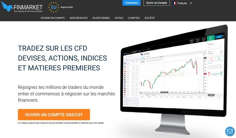 Forex et CFD sur la plateforme FinMarket