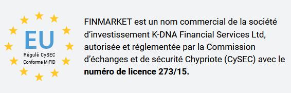Régulation FinMarket : licence Cysec