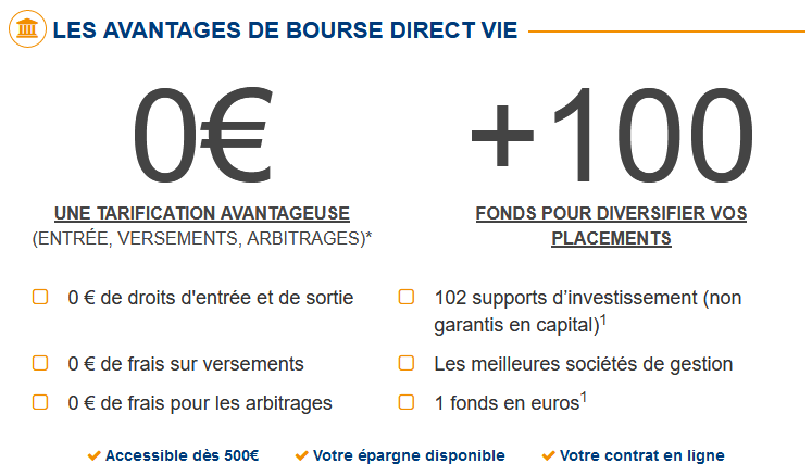 Assurance vie Bourse Direct Vie