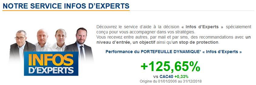 Info d'experts sur Bourse Direct