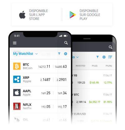 application etoro ios et android